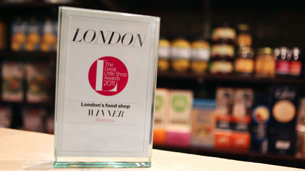 award winner of the best small foodshop in london